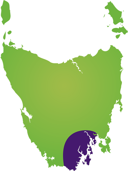 Hobart & South West Region Map