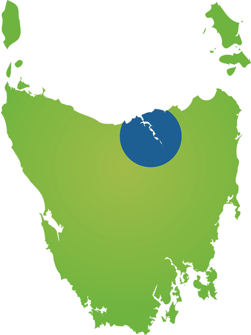 Launceston Region Map